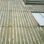 Asbestos management surveys - Damaged asbestos paneling