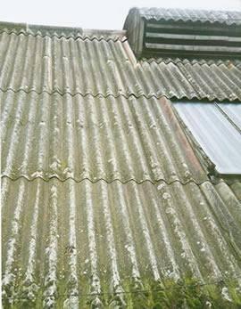 Asbestos management surveys - Damaged asbestos panelling