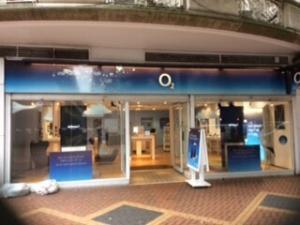 02 shop, 24 New St, Birmingham.