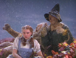 Asbestos was used as fake snow in many old Hollywood movies - snow scene in the Wizard of Oz