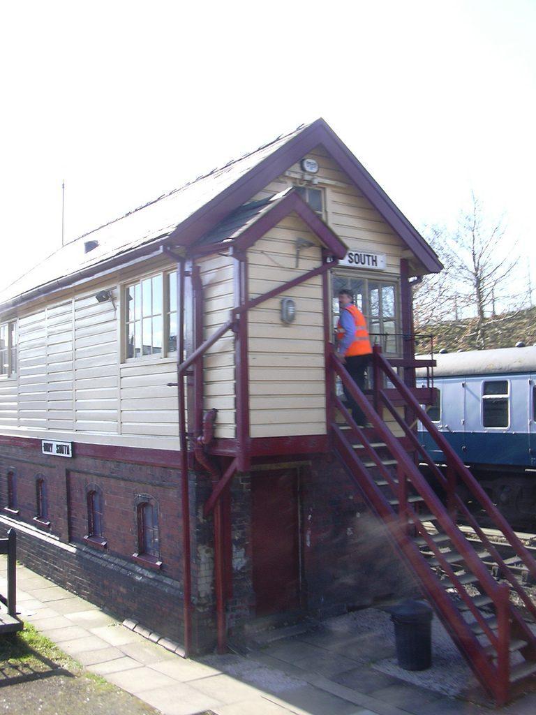 asbestos surveys bury - bury south signal box, East Lancs Railway
